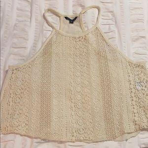 Cream colored lace tank top